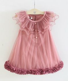 So cute! Toddler Girls Dress // Delicate Flower Princess by shopteetertots, $39.99