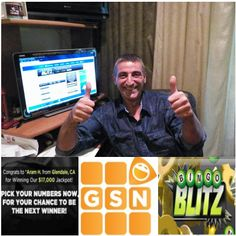 Congratulations to Aram H. from Glendale, CA who won $17,000 in our Bingo Blitz Game! Play for free daily on GSN.com!
