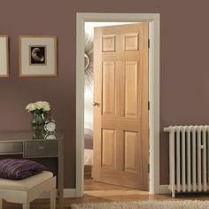 Jeld Wen Oregon 6 Panel White Oak Veneer Internal Door