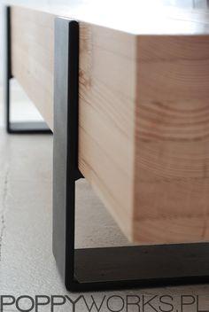 Mesa de centro contemporánea hecha a mano / Banco. por Poppyworkspl