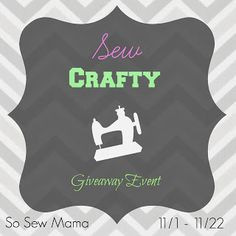 Sew Crafty Giveaway! 5 Winners! Ends 11/22 | Rude Mom