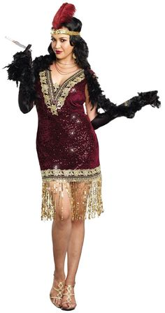 Plus Size Sophisticated Lady Flapper Costume For Women from Buycostumes.com