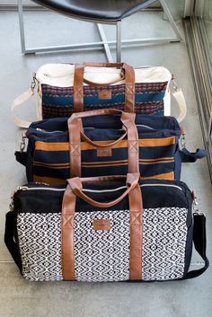 'the Pike' in all-new colors. Each weekender is hand-signed by the woman who made it and ready for travel.