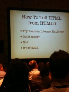 How To Tell HTML From HTML5    Hey internet, you're doing it … right?