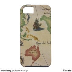 World Map Cell Phone Cases & iPad Covers