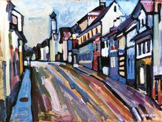 lawrenceleemagnuson:  Wassily Kandinsky (1866-1944)Murnau - Untermarkt (1908)oil on board 33 x 44.5 cm