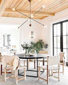 Amazing lighting, woven chairs