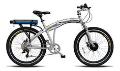 "ProdecoTech Genesis v5F 36V300W 8 Speed Electric Bicycle 10Ah Samsung Li ion, Brushed Aluminum, 18""/One Size ** You can get additional details at the image link."