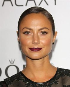 #StacyKeibler wears a #berry hue on her #lips. See more celebs on Wonderwall: http://on-msn.com/15lrUdm