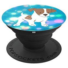 Cute Jack Russell Puppy Art Blue Magical Pattern Design pop socket #popsockets #stockingstuffers #birthdaygift #doglovers