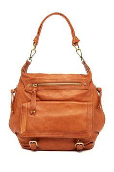 Sabina Convertible Backpack & Shoulder Bag in Camel Leather $139