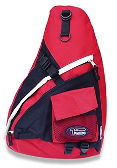 SLING BACKPACK SINGLE STRAP SCHOOL TRAVEL SPORTS SHOULDER BACKPACKS BAG - URBAN GEAR (RED/GREY, R) - Click image twice for more info - See a larger selection of red  backpacks at http://kidsbackpackstore.com/product-category/red-backpacks/. - kids, juniors, back to school, kids fashion ideas, teens fashion ideas, school supplies, backpack, bag , teenagers girls , gift ideas, red