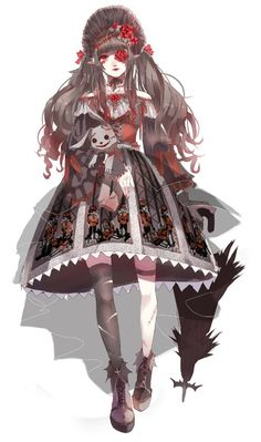 [-✔-Quick Survey-✘-] Do you want these #Halloween themed Lolita outfits to be made into real Lolita outfits (including shoes and umbrella)?