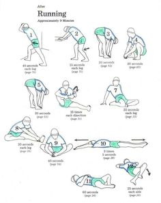 Post run stretches...yes its important. Just like pre run.