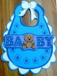 Como hacer babero para baby shower   Manualidades para Baby Shower