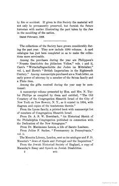 Lyons family. Sh.Is. American Jewish Historical Quarterly