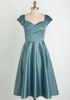 Pine All Mine Dress in Dusty Blue. This item is a new colorway of one of your favorite Be the Buyer picks! #blue #wedding #bridesmaid #modcloth