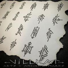 Repost of the embellished elder futhark runes I did a while ago :) Gaelic Tattoo, Pagan Tattoo, Norse Tattoo, Viking Tattoos, Viking Rune Tattoo, Hand Tattoos, Body Art Tattoos, Tribal Tattoos, Viking Art