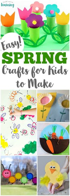 Welcome spring with this list of 75 easy spring crafts for kids to make! #craftsforkids #kidscrafts #kidsactivities