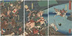 Battle of Wada by Utagawa Yoshikazu |建保元夏五月 和田大合戦 芳員
