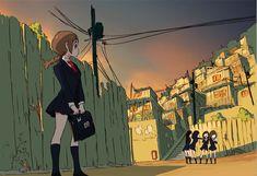 Shelter of ✿Magnolias✿, ca-tsuka:  Lovely drawings of Mako by Kill la Kill...