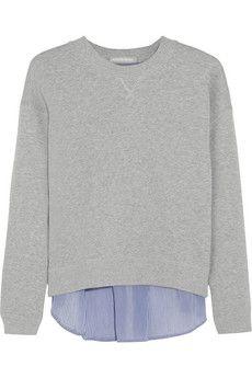 Richard Nicoll Paneled cotton-terry sweatshirt | NET-A-PORTER