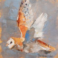 'Barn Owl In Flight' by Deb Kirkeeide
