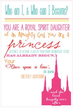 You are a royal spirit daughter handout
