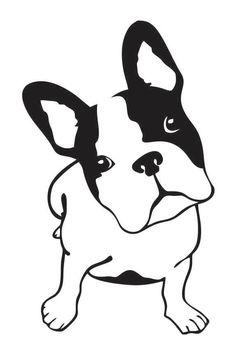 Sticker chien - bulldog T-shirt for Karen? Dog Silhouette, Silhouette Portrait, Silhouette Projects, Stencil Patterns, Pyrography, Dog Art, Painted Rocks, Vinyl Decals, Sketches