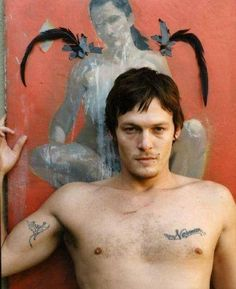 So this would be young Norman, without a shirt. *smile*