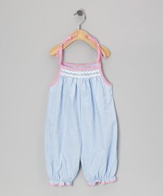 Look at this #zulilyfind! Blue & Pink Gingham French Bubble Romper - Infant by Petit Pomme #zulilyfinds