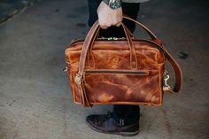 Loyal Stricklin briefcase in Whiskey