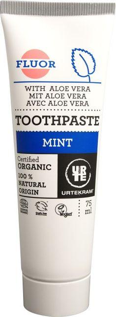 Köp Urtekram Mint tandkräm med fluor 75 ml på apotea.se