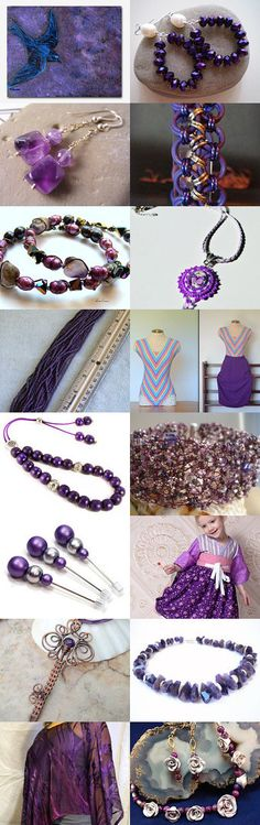 Purple Pretties by Kathi Demaret on Etsy #lacwe #jewelry #accessories #vintage #décor #fineart