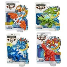 Toys 4 Pack Set: Playskool Transformers Rescue Bots Boulder, Blades, Chase and Heatwave the Rescue Dinobot Figures Transformers Action Figures, Robot Action Figures, Rescue Bots Birthday, Power Rangers Ninja Storm, Best Christmas Toys, Pawer Rangers, Caleb, Transformers Collection, Activities For Boys