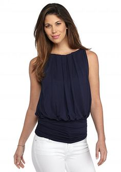 Sophie Max Sleeveless Banded Bottom Jersey Tank