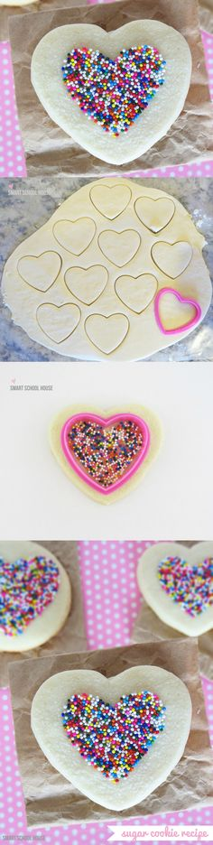 a simple way to make sprinkled sugar cookies i love easy sugar cookie recipe - Christmas Cookie Decorating Supplies