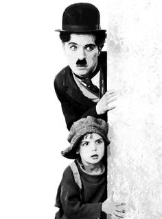 """Charlie Chaplin (April 1889 - December and Jackie Coogan (October 1914 - March in """"The Kid"""" 1921 Charlie Chaplin, Vintage Hollywood, Classic Hollywood, The Kid 1921, Charles Spencer Chaplin, Foto Portrait, Actors, Silent Film, Old Movies"""