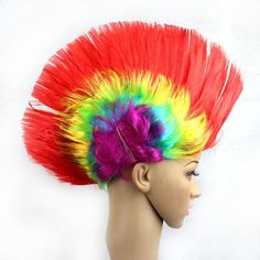 18 Colorful Styles Short Mohawk Cosplay Wig