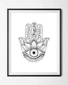 Hamsa Evil Eye Drawing Stipple Dots by JustFnRelaxx on Etsy Hamsa Tattoo Design, Hamsa Hand Tattoo, Hand Tattoos, Hamsa Design, Eye Sketch, Drawing Sketches, Drawing Ideas, Evil Eye Hand, Eyes Artwork