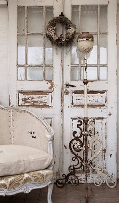 fantastic patina on these old wood doors