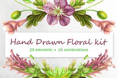 Hand Drawn Floral kit by Your Graphic Store on @creativemarket
