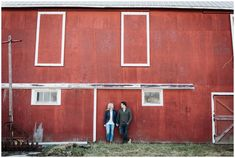 Sarnia Engagement Photographer, Brittany VanRuymbeke, shares Sam & Sacha's recent fun engagement session held on a rustic family farm.