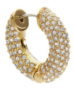 Pave Huggie Earrings, Golden by Michael Kors at Last Call by Neiman Marcus.