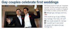BBC News headlines 1st gay weddings in England ... Bees Marquees are ready for you, brave gay world! (why choose a stuffy indoor venue when you can create your own comfy indoors-outdoors pad in your favourite scenic location!)