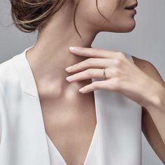 Tiffany Harmony® Bead-set Diamond Ring_model-shot-1