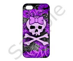 Purple Girly Skull Apple I Phone 5 Case Roseanne Jones-Cases