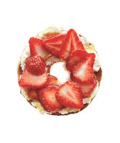 Bagel With Ricotta and Strawberries | 19 new snack ideas that put the vending machine to shame.