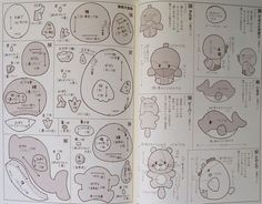 Free Felt Animal Patterns | Free Japanese Felt Patterns http://picclick.com/190-Felt-Animal-Mascot ...