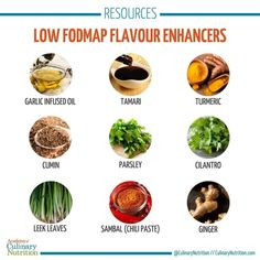 Low FODMAP cooking doesn't have to be boring - these 7 low FODMAP flavour enhancers will add excitement and variety to your cooking. Fodmap Diet, Low Fodmap, Gestational Diabetes Pregnancy, Bland Food, Anti Inflammatory Diet, Fresh Ginger, Fresh Herbs, Healthy Cooking, Nutrition